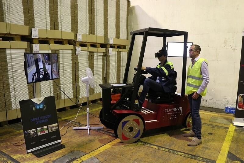 Réalité virtuelle et prévention : moins de risques d'accidents dans le secteur logistique