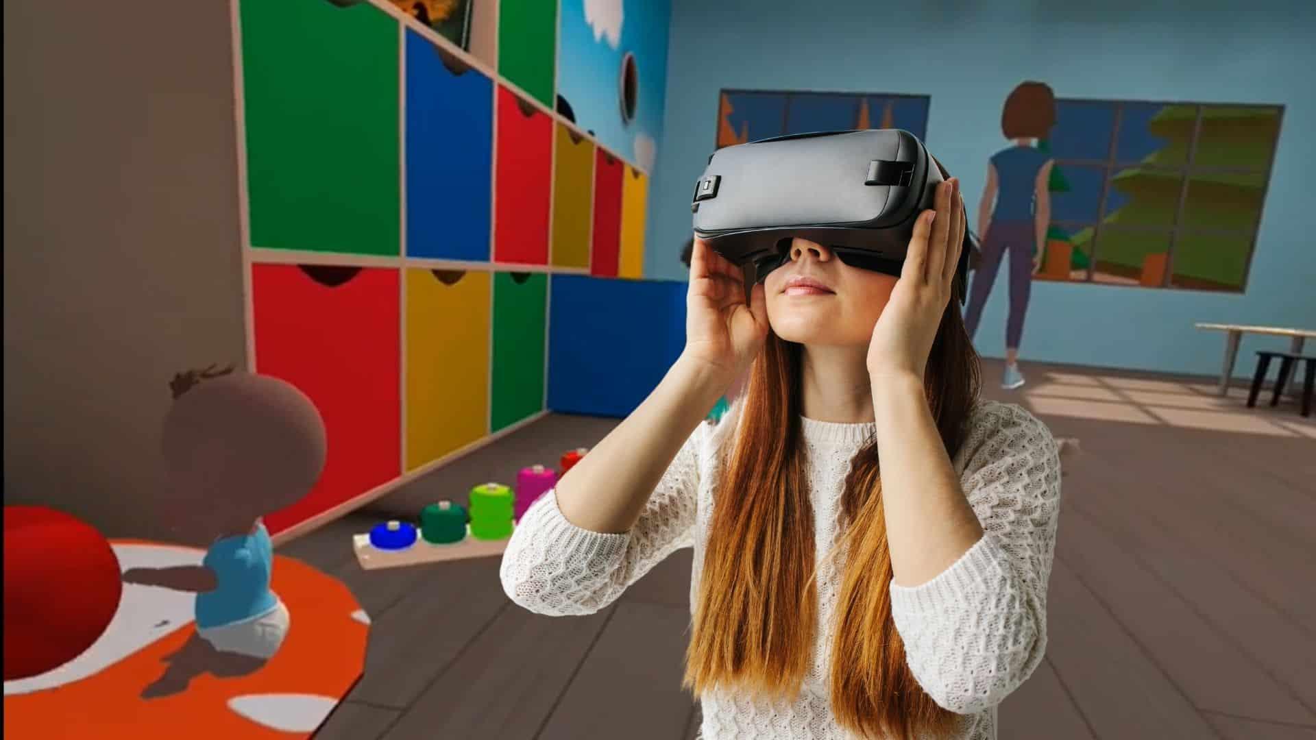 Réalité virtuelle crèche